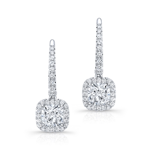 KRIZANTI 18K.WHITE EARRINGS 0.59ct
