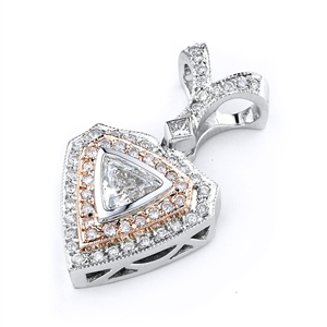 18KTW  PENDANT, DIAMOND 0.70CT