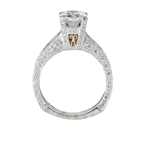 18KTW INVISIBLE SET ENGAGEMENT RING  1.62CT