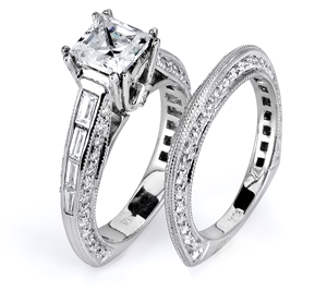 18KTW ENGAGEMENT SET, DIAMOND 1.20CT