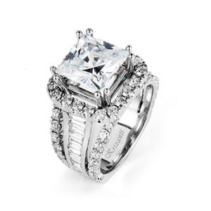 18KTW ENGAGEMENT RING. DIAMOND 3.68CT