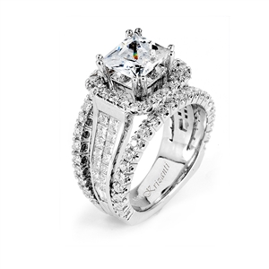 18KTW INVISIBLE SET, ENGAGEMENT RING 2.29CT