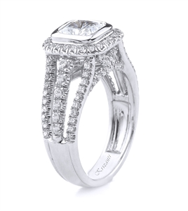 18KT.W ENGAGEMENT RING DIAM-0.72CT
