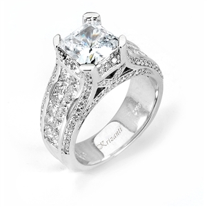 18KW INVISIBLE SET, ENGAGEMENT RING 1.88CT