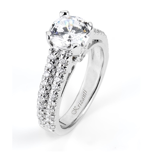 18KTW ENEGAGEMENT RING 0.54CT