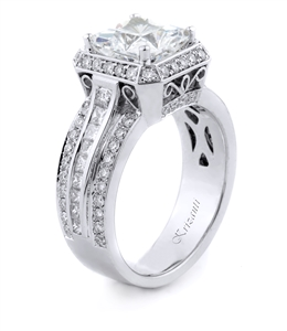 KRIZANTI 18K WHITE ENGAGEMENT RING 1.24ct