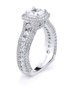 KRIZANTI 18K WHITE ENGAGEMENT RING 1.92ct