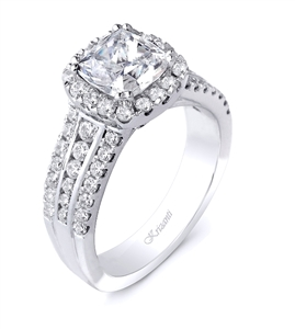 18K WHITE ENGAGEMENT 0.90ct