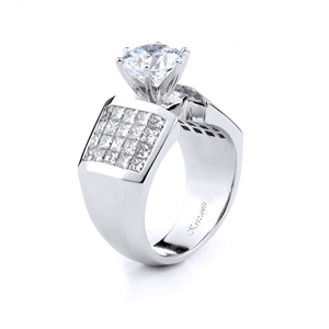 18KT. WHITE ENGAGEMENT RING 2.00CT