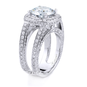 18KT WHITE ENGAGEMENT DIAMOND 1.95CT