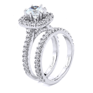18KT.W ENGAGEMENT SET, DIAMOND-1.09CT
