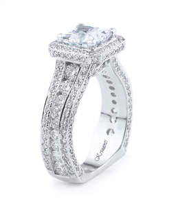 18K WHITE ENGAGEMENT RING 2.06 CT