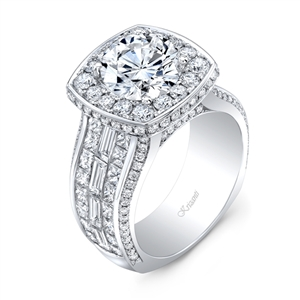 18K WHITE ENGAGEMENT RING 4.59ct