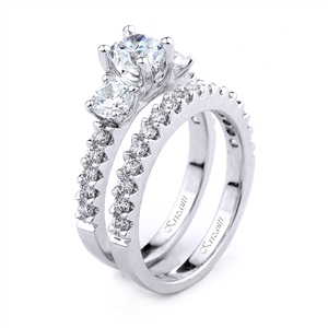 18KT.W ENGAGEMENT SET DIAMOND 1.28CT