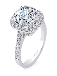 18K.WHITE ENGAGEMENT 0.59ct