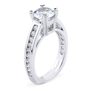 18KT.W ENGAGEMENT RING 0.56CT