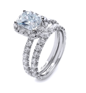18K WHITE ENGAGEMENT SET 1.94 CT