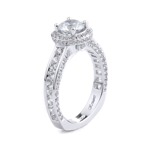 18KT WHITE ENGAGEMENT RING 1.28CT