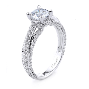 18KT.W ENGAGEMENT RING 0.70CT