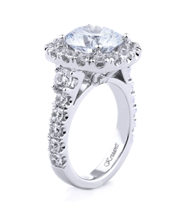 18K WHITE ENGAGEMENT 1.25 CT