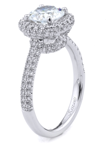 18KT WHITE ENGAGEMENT 0.45 CT