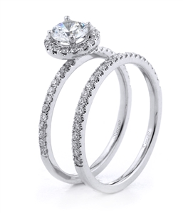 18KT.W ENGAGEMENT SET DIAM-0.44CT
