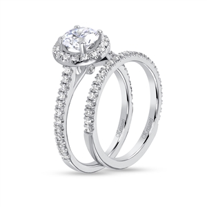 KRIZANTI 18K.WHITE ENG-0.41ct BAND-0.24ct