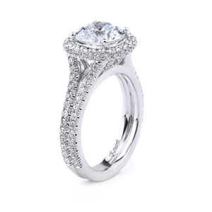 18KT WHITE ENGAGEMENT RING 0.80CT