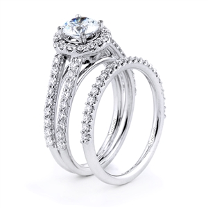 18KTW ENGAGEMENT 0.75CT, BAND 0.27CT
