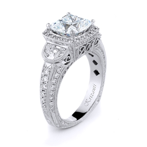 18KTW ENGAGEMENT RING, DIAMOND 1.39CT