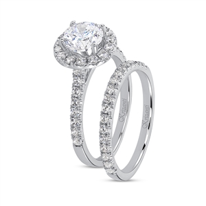 KRIZANTI 18K.WHITE ENG-0.44ct BAND-0.28ct