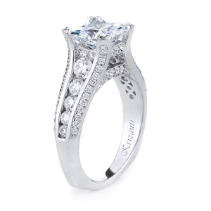 18KTW ENGAGEMENT RING, DIAMOND 1.01CT