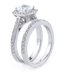 18KT.W ENGAGEMENT SET 0.70CT