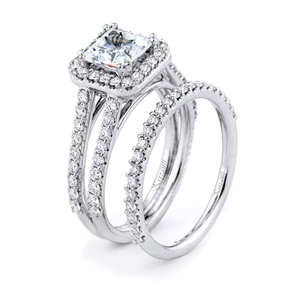 18KTW ENGAGEMENT 0.85CT, BAND 0.27CT