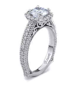 18K WHITE ENGAGEMENT RING 0.41CT