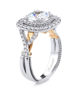 18KT T.TONE ENGAGEMENT RING 0.78CT