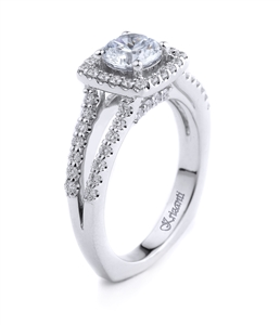 18K WHITE ENGAGEMENT 0.60 CT