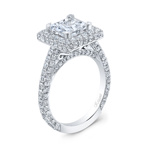 18K WHITE ENGAGEMENT 2.15CT