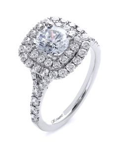 18K WHITE ENGAGEMENT 0.99ct