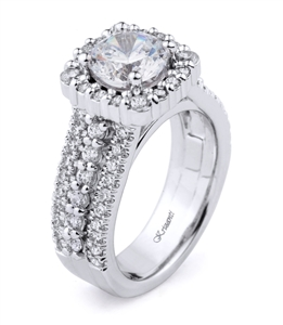18K WHITE ENGAGEMENT RING 1.22ct