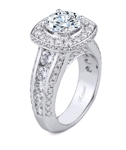 18K.WHITE ENGAGEMENT 2.83ct