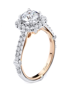 KRIZANTI 18K T.TONE ENGAGEMENT 0.65ct