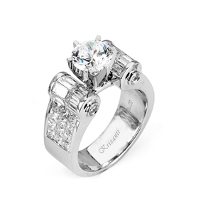 18KW INVISIBLE SET, ENGAGEMENT RING 2.64CT