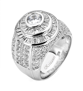 18KTW GENT'S RING DIAMOND 5.28CT