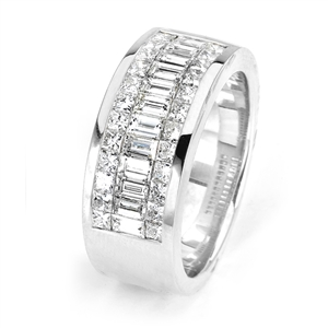 18KTW GENT'S BAND DIAMOND 2.72CT