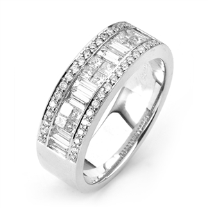 18KW INVISIBLE SET GENT'S BAND DIAMOND 1.83CT