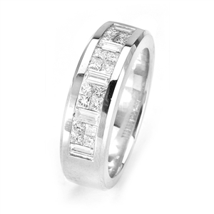 18KTW INVISIBLE SET BAND, DIAMOND 1.35CT
