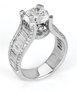 18KTW ENGAGMENT RING 2.33CT