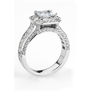 18KTW ENGAGEMENT RING,  2.36CT