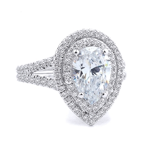 18KT WHITE ENGAGEMENT 0.68CT